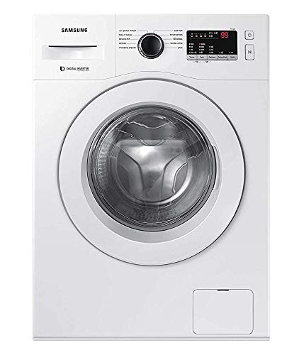 Samsung 6.5 Kg Inverter 5 Star Fully-Automatic Front Loading Washing Machine (WW65R20GLSW/TL, White, Hygiene Steam)