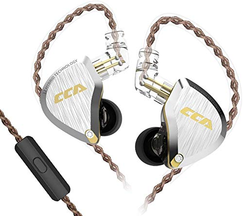 CCA C12 5BA 1DD - Cuffie stereo Bass con cavo, cancellazione del rumore, per musicisti, audiofili, cantanti, DJ