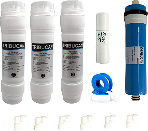 Full service kit , Compatible with all Domestic RO Universal Type full ro service kit , compatible with all RO/UV/UF water purifiers , Use in aquaguard, kent, aquafresh etc. Easy to connect inline filter with push fit type fittings Ro membrane is 80 ...