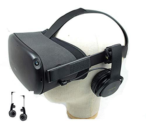 Earbuds Cover für Oculus Quest VR Headset Gaming Earbuds Kopfhörer Zubehör Stereo Earbuds 360 Grad Sound, Rauschunterdrückung 1 Paar (Clip Kopfhörer - Schwarz), nicht für Oculus Quest 2 VR