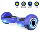 YHR Hoverboard Flashing Wheel Hover Board 6.5' Self Balancing Scooter -UL Certified with Free Bag-Blue