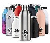 24Bottles Borraccia Termica Per L'Acqua | Bottiglia Thermos Riutilizzabile in Acciaio Inox senza BPA | 24Ore Freddo 12Ore Caldo | Clima Bottle | Design Originale Italiano (Steel, 500 ml)