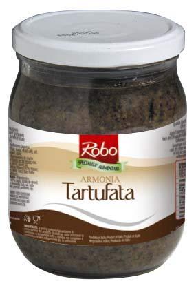 Robo - Armonia - Tartufata - Salsa a Base de Champiñones con Trufa - Producto 100 % Italiano - 500 Gramos