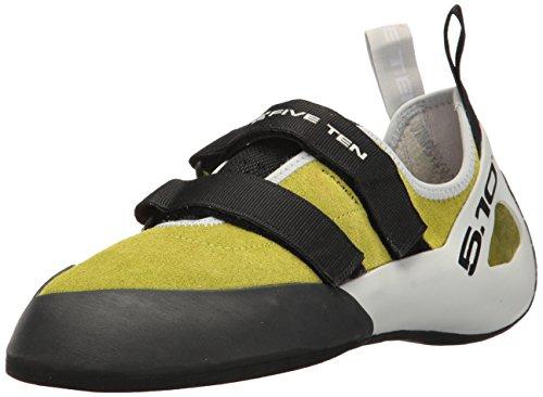 Five Ten Gambit VCS Mens Climbing Shoes, (Semi Solar Slime, Black, Clear Grey), Size 8