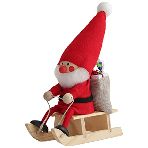 NORDIKA nisse ノルディカ ニッセ クリスマス 木製人形 (そりに乗ったサンタ / レッド / NRD120072)