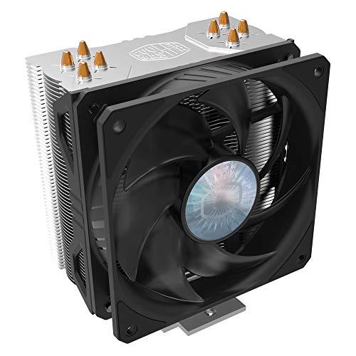 Cooler Master Hyper 212 EVO V2 Ventilateur processeur - Meilleures performances, fonctionnalités améliorées - Dissipateur de chaleur décalé, 4 caloducs à contact direct, ventilateur de 120 mm