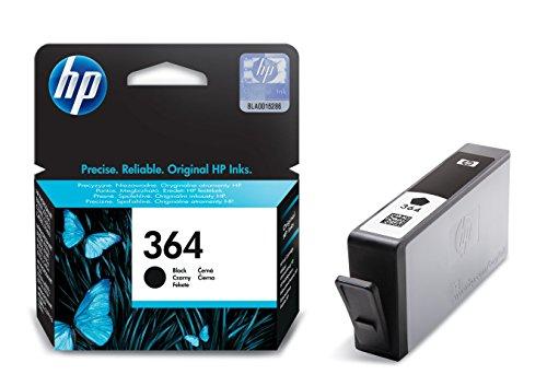 HP 364 Schwarz Original Druckerpatrone für HP Deskjet 3070A, 3520; HP Photosmart 5510, 5515, 5520, 5525, 6510, 6520, 7510, 7520, C5324, C5380, C6324, C6380, B8550, D5460; HP Officejet 4620, 4622