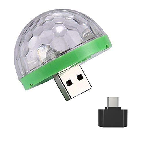 Fullfun Mini Car USB Party Light DJ LED RGB Colorful Music Sound...