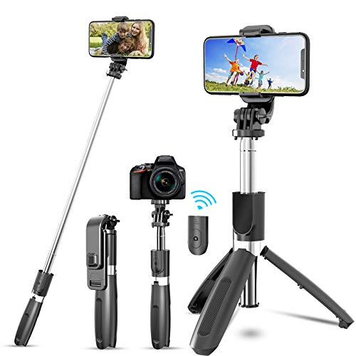 JYPS Perche Selfie Trépied avec Télécommande Bluetooth et Support de...
