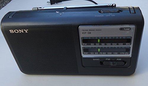 Sony ICF38 Portable AM/FM Radio (Black)