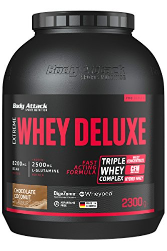 Body Attack Chocolate-Coconut Cream 2300g Extreme Whey Deluxe by Body Attack