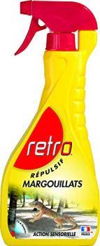 RETRO   RÉPULSIF MARGOUILLATS   Prêt A l'emploi Liquide   Agit rapidement.  RELEZ1