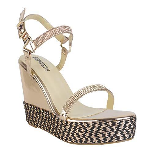 BeMeesh Alpargata Mujer Atada Zapatos Plataforma Sandalias con cuña de Verano