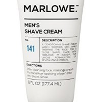MARLOWE. Shave Cream with Shea Butter & Coconut Oil No. 141 6 oz | Natural Shaving Better than Gel |...