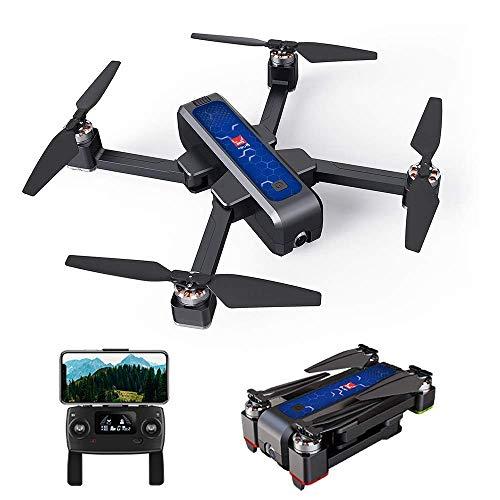 SHKUU Drone con Fotocamera, GPS 2K 5G WiFi FPV Posizionamento del Flusso Ottico B4W Quadricottero Pieghevole Follow Me Altitude Hold Drone