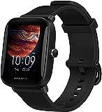Amazfit Men's Bip U Pro Smartwatch, Black, Square
