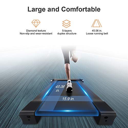 Fisup Foldable Smart Treadmill for Home Office Use Exercise Walking Jogging Silent with APP Installation Free 3