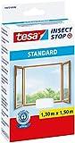 Tesa Insect Stop Moustiquaire Standard pour fenêtre, 1.30m x 1.50m, Blanche