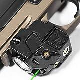 Firefly V2 Flashlight Laser Sight | Strobe Function | Combat Veteran Owned Company | Pistols | Rifles | 220 Lumens | Magnetic Charging | Laser Flashlight Combo For Handgun | Gun Light (Green-Laser)