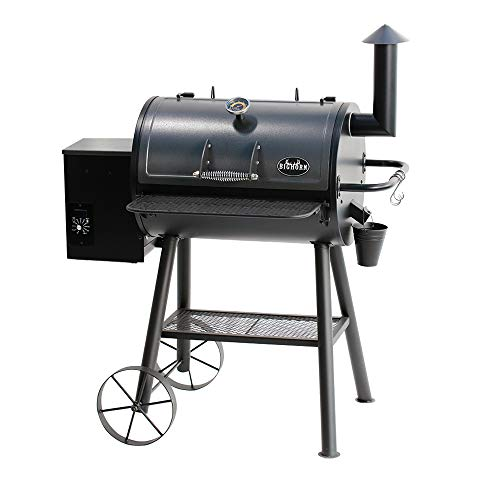 BIG HORN OUTDOORS Pellet Grill & Smoker, Wood Pellet Grills with 700 Sq. In. Cooking Area, 6-In-1 BBQ Grill with Digital Auto Temperature Control, Temperature Gauge, Black