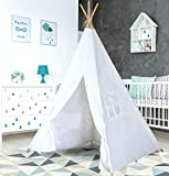 Teepee Tent for Kids | Tipi Tents Indoor Outdoor | Play Tent Foldable 5 Feet Tall 4 Poles | Customizable Tent | Large Childrens Teepee Tents for Girls and Boys Kids Teepee Tent | Strong Wooden Poles