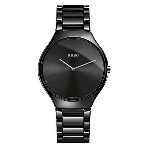 Rado True Thinline Herren-Armbanduhr 39mm Armband Keramik Quarz R27741182