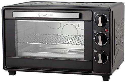 Grunkel Four électrique multifonction de bureau 23 litres couleur argent avec 1600 W de puissance Idéal pour pizzas et pain. Modèle HR-23HN (noir).