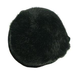180s Women's Ear Warmers – Vail Faux Fur Black