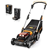 LawnMaster CLMFR6018A 0802 Cordless 19-Inch Brushless Push Lawn Mower 60V Lithium-Ion,4.0Ah Battery & Charger Included