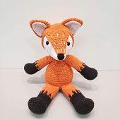 Zorro naranja crochet