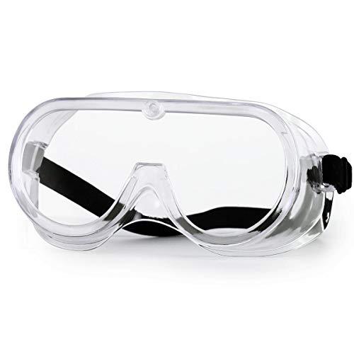NASUM Schutzbrille verstellbare Schutzbrille hohe Schlagfestigkeit für Baustellen, Dekoration, Werkstätten und staubdicht/Licht, transparent, 1St