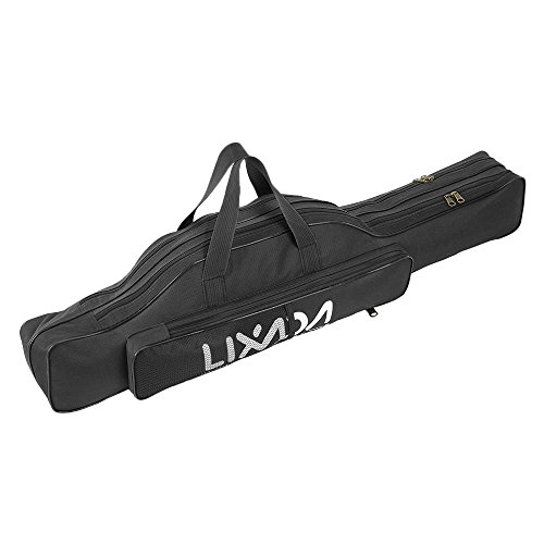 Lixada Fishing Rod Case, Portable Folding Fishing Rod Case Fishing Pole Reel Storage Bag Fishing...