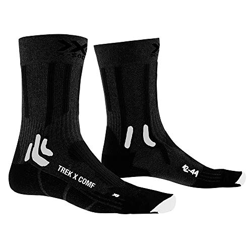 X-Socks Trek X Comf, Calzini Unisex-Adulto, Opal Black/Artic White, 42-44