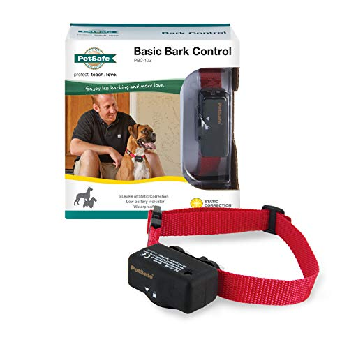 PetSafe Basic Bark Control Collar for Dogs 8 lb. and Up, Anti-Bark Training Device, Waterproof, Static Correction, Canine