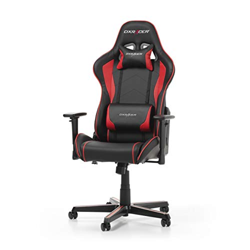 DXRacer (l'original) Formula F08 Chaise Gaming, Similicuir, Noir & Rouge, 145-180 cm