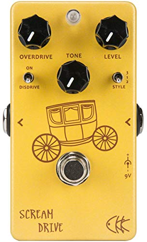 CKK Scream Drive Guitar Two Gain Stage Classic Overdrive Pedal