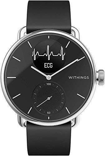Withings ScanWatch - Reloj inteligente híbrido con ECG, tensiómetro y oxímetro, 38 mm, color Negro