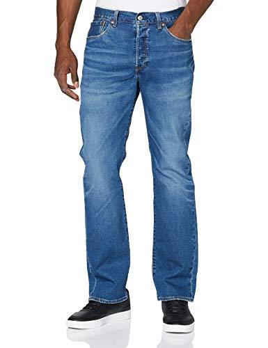 Levi's 501 Original Jeans Denim, Key West Sky Tnl, 34W/32L Uomo