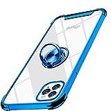 iPhone 12 用ケース iPhone 12 Pro 用ケース 6.1インチ リング付き メタルキックスタンド メッ……