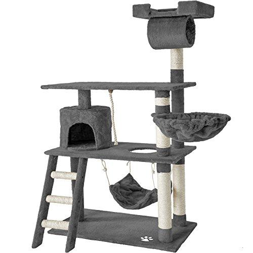 TecTake 800294 Katzen Kratzbaum mit vielen Kuschel- und Spielmöglichkeiten,...