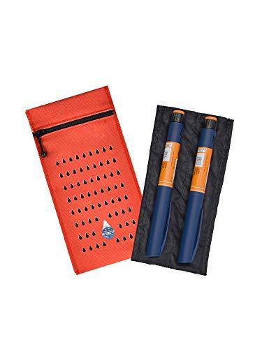 Dia-Cool astuccio isotermico per 2 penne per insulina - Custodia termica per insulina e medicinali Funziona con acqua fredda e senza batteria.