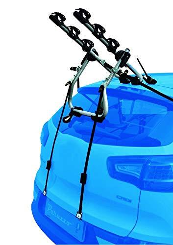 PROPOSTEONLINE Portabici Auto Posteriore Realizzato per Kia Rio (1999-2005) da 3 Posti Bici con Struttura in Acciaio Sistema blocca-Bici