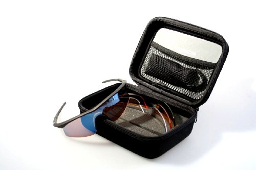 7. Madison Black D Arcs - 4 Lens and Case Cycling Glasses Set