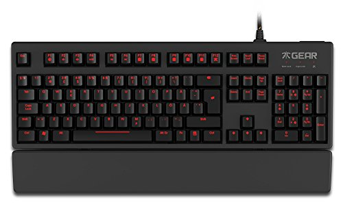 Clavier Pro Gaming LED Fnatic Gear Rush (mécanique, Touches Rouge Cherry MX, Configuration FR)