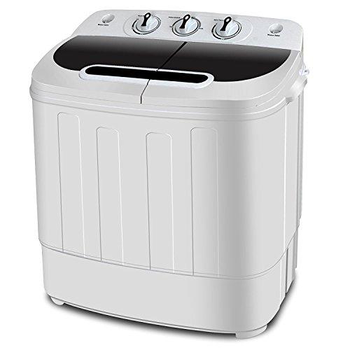 ZENY 2-in-1 Compact Mini Twin Tub Washing Machine w/Spin...