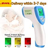Greatico Digital Infrared Forehead Non-Contact Digital Thermometer Laser IR Portable Body Basal with 3 in 1 LCD Display for Baby, Adult, Surface of Objects