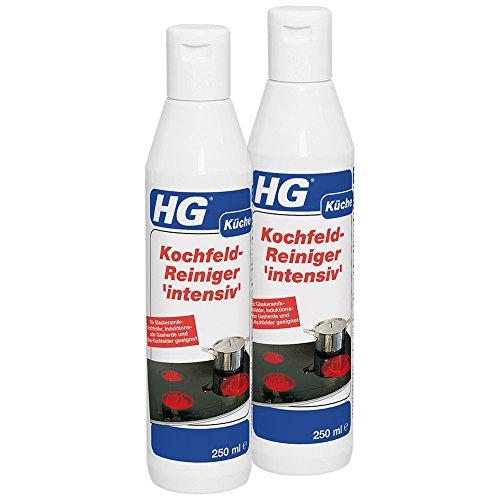 HG Detergente per piano cottura intensivo, confezione da 2 (2 x 250 ml) un detergente per piano...