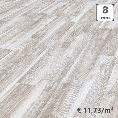 Kronotex, Pavimento Laminato Incastro, Frassino Stockholm Shabby, Scatola 2,131 m/AC4. Spessore 8mm