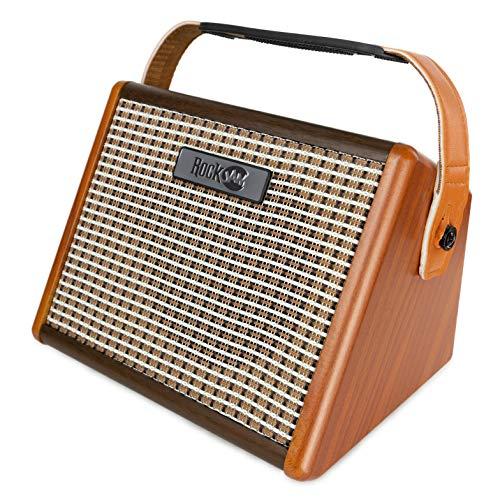 RockJam Busker 15 Watt Rechargeable Guitar Amp with Bluetooth and Mic Input