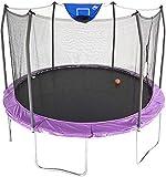 Skywalker Trampolines 12-Foot Jump N' Dunk Trampoline with Enclosure Net - Basketball Trampoline,...
